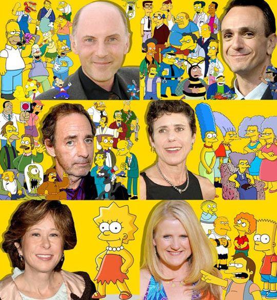 The faces behind The Simpsons. Dan Castllenetta. Hank Azaria. Harry Shearer. Julie Kavner. Yeardley Smith. Nancy Cartright.