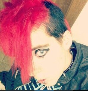 Red and black mohawk