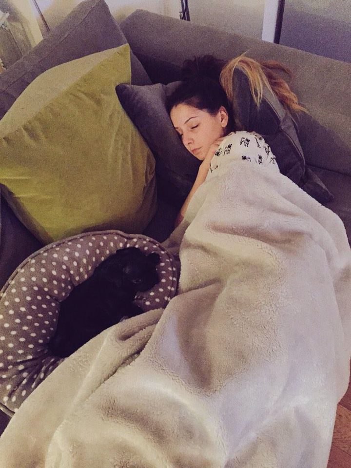 Zoe and nala taking a nap