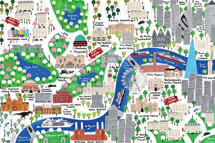 Jamie Malone - London - Plakát, Obraz na zeď | Posters.cz