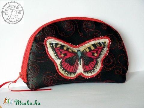 Meska - Lepkés textilbőr kistáska pannika kézművestől