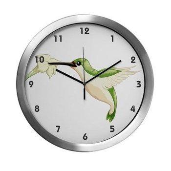 Hummingbird Modern Wall Clock from cafepress store: AG Painted Brush T-Shirts. #clock #wallclock #hummingbird