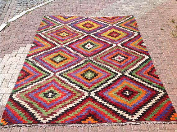 9'6 '' x 7'2 '' Vintage Turkse tapijt tapijten door PocoVintage