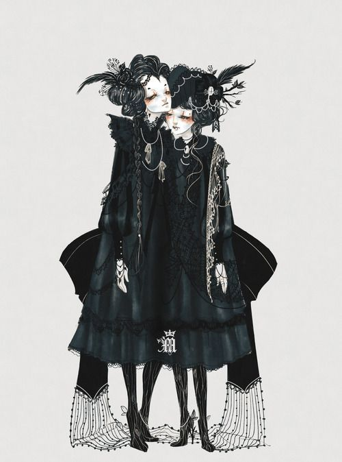 Dark Mori -- this lovely illustration is the epitome of the lifestyle.