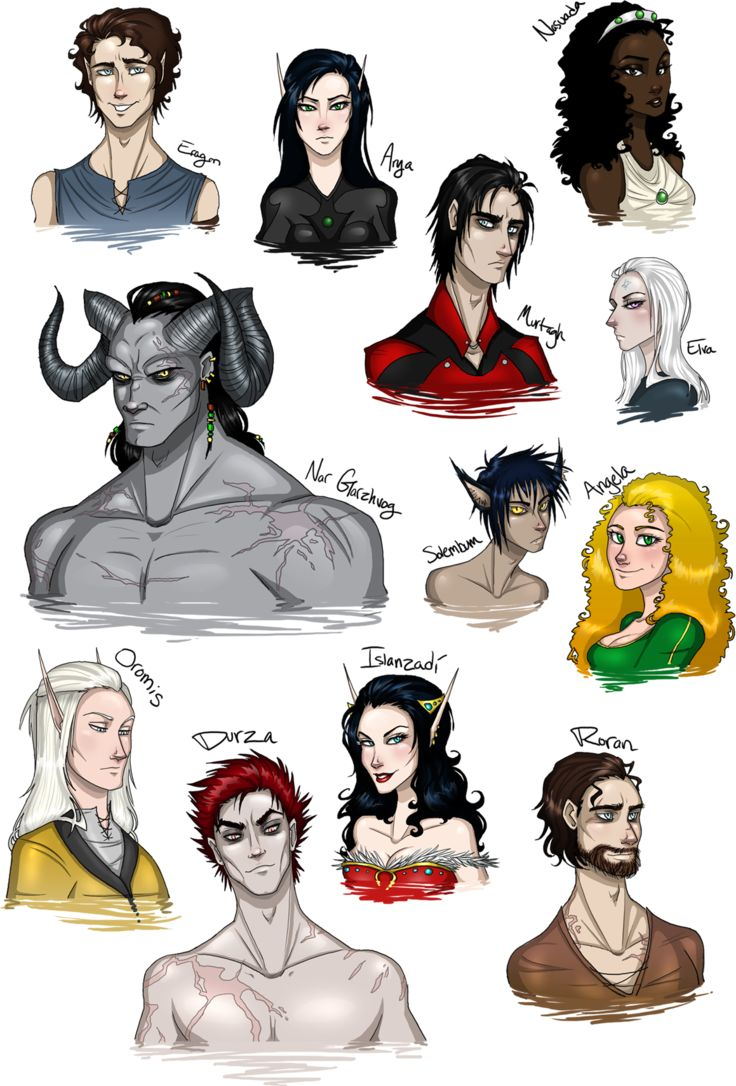 Faces of Alagaesia by TroubleTrain on DeviantArt I don't like the Eragon in this. One but Everone else is pretty much how I imagined them