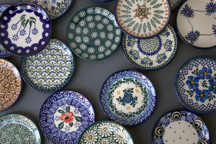 Traditional handmade Polish Pottery from our shop ELIMA.