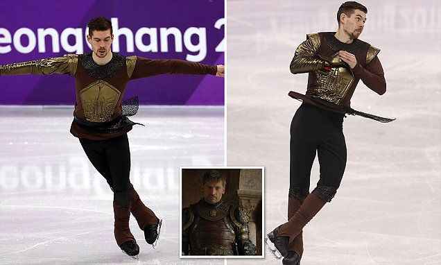 German Olympic figure skater Paul Fentz gains legion of fans for dressing up as Game of Thrones' Jaime Lannister and skating to the HBO show's theme song - Long Room