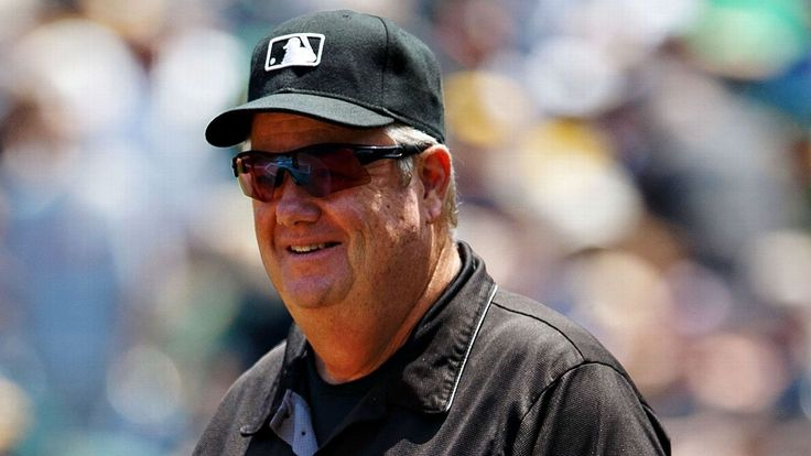 Ball thrown from stands hits Joe West in head; umpire stays in game