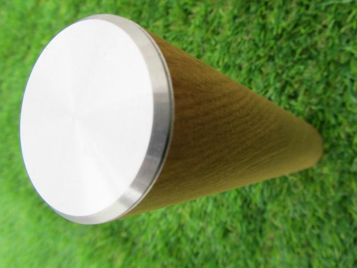 Trapleuning met hout design Eiken met RVS afwerking