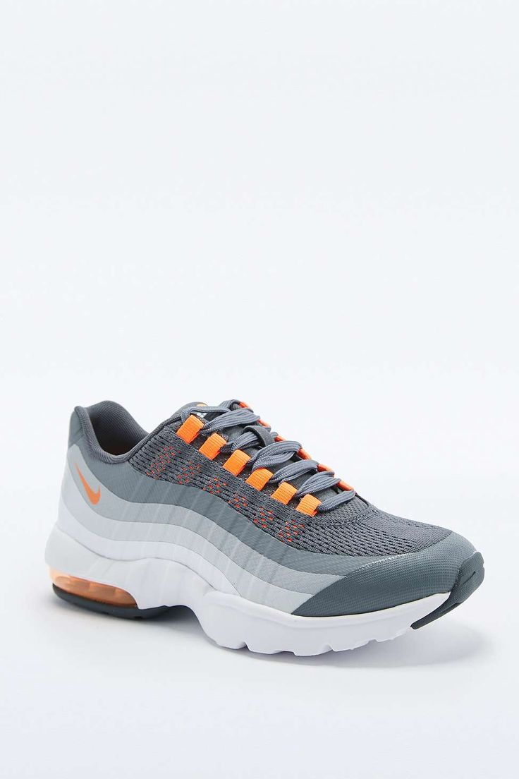separation shoes 161d9 449bf ... uk nike air max 95 grey and orange trainers 681aa 8cbab ...