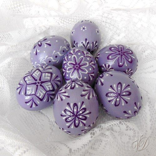 Kraslice - Velikonoční vajíčka - fialová