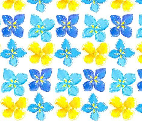 Big Yellow Blue fabric by countrygarden on Spoonflower - custom fabric