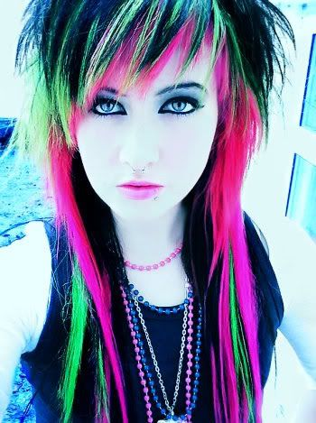 Crazy Hair Color Ideas By In Green Pink