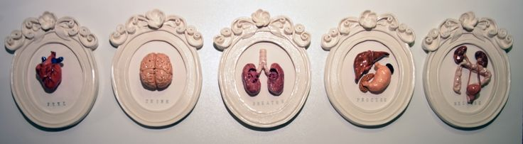 Visceral Affect porcelain and stoneware frames with body parts!