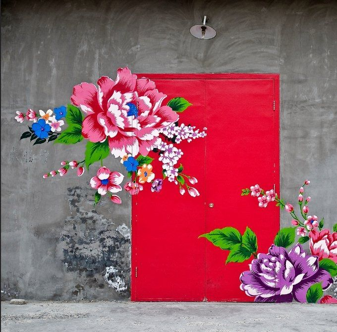 роспись двери гаражной