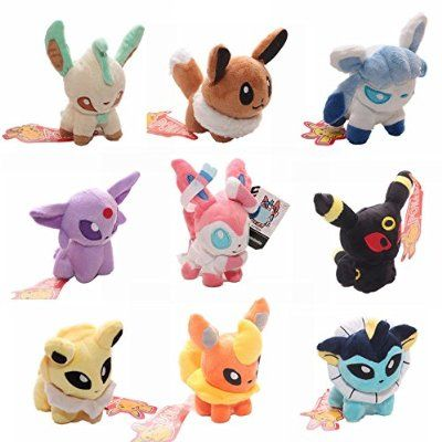 Cutepower Pokemon Stuffed Plush Toys Set, Pack of 9