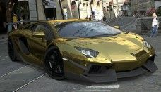 lamborghini aventador gold picture