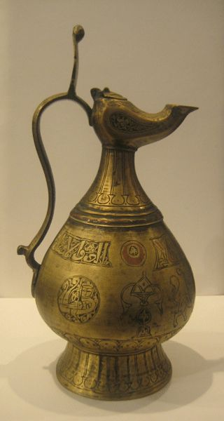 Seljuk Brass Ewer with Incised Decoration