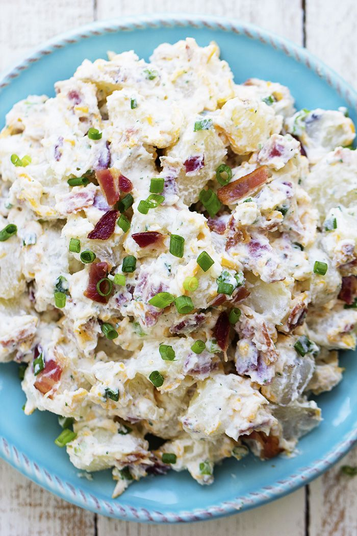 A creamy and delicious potato salad with amazing ranch flavor and bacon!  This is the perfect side to take to a potluck and is sure to be a huge hit!   Is anyone else struggling to get through these last couple days of school?  I have been counting down the minutes that my kids get …