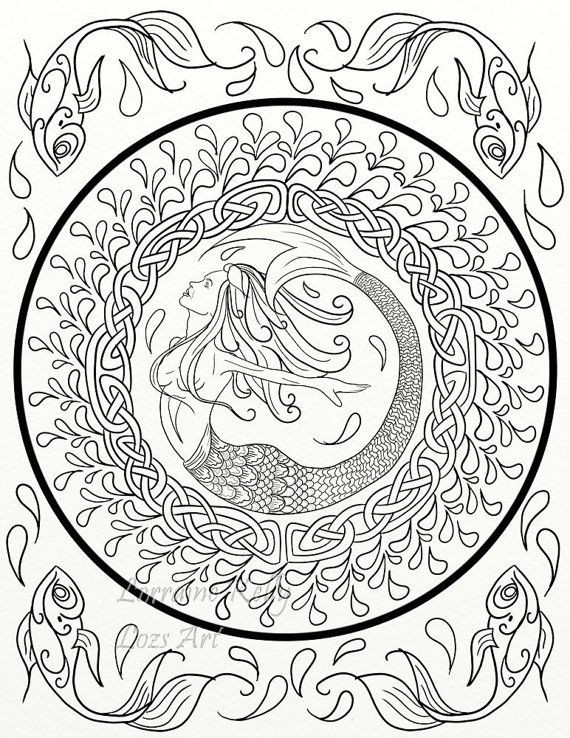 5 X Celtic Knots Adult Coloring Pages