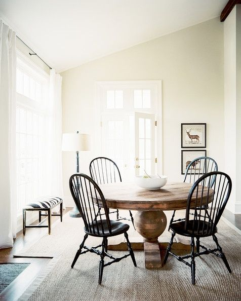 well more like dining room porn - absolutely love this table & chairs ... via remain simple.