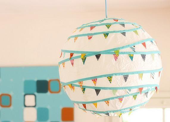 Lanternas com Bandeirolas - Festa Junina