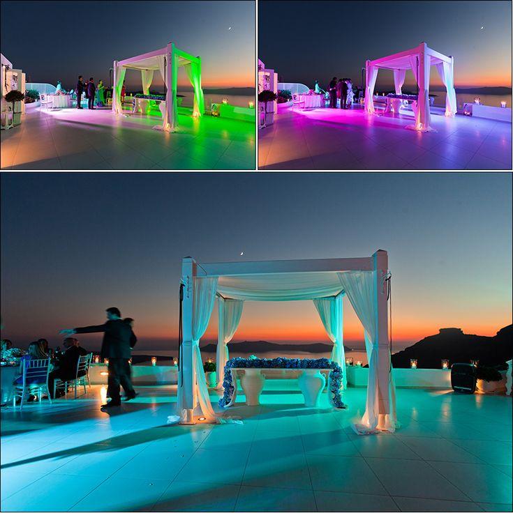 Elegant navy blue & white wedding on Santorini: Dana Villas and Tsitouras Collection