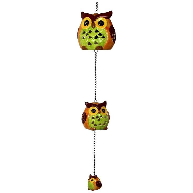 Owl Trio Solar Hanging Light