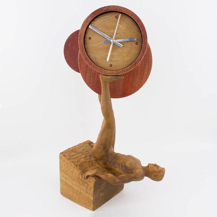 """Quiero compartir lo último de Tortajada que he añadido a mi tienda de #etsy: Sculpture Figurative Clock in Palti Wood """"Juggling Wood"""" Carving and modeling by hand original contemporary art by Tortajada (Toledo-Spain) http://etsy.me/2k8fENn #arte #escultura #sculpture #clock"""