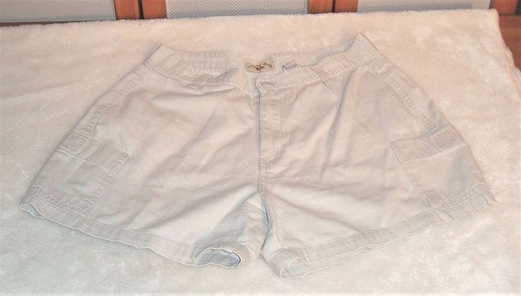 Retro County Seat Sz 6 Ivory Khaki 4 Pocket Cotton Cargo Shorts #CountySeat #CasualShorts #Casual