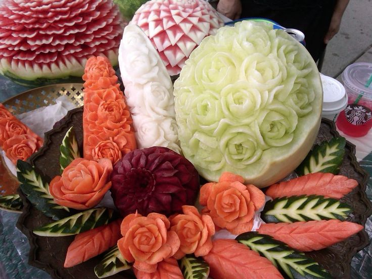 The ancient art of Kae Sa Luk - Thai fruit and vegetable carving adds beauty and immense value to every dish. It is the culmination of over seven centuries of history and heritage. Body and mind are focused on the conception and creation of ephemeral works of sheer exquisiteness.