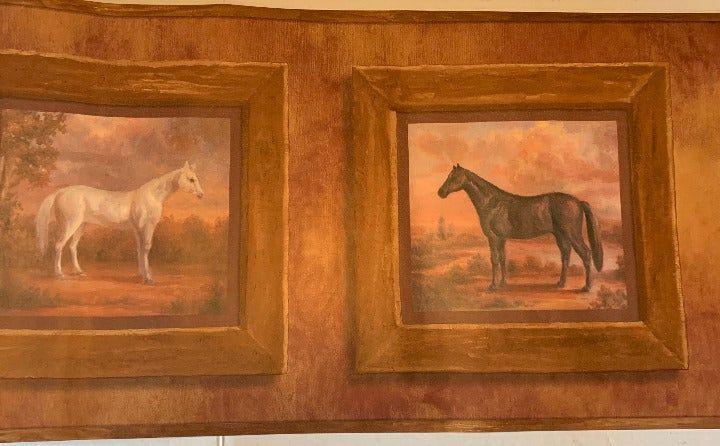 "Horse Wallpaper Border 13"" Tall 4 Rolls on Mercari   Horse ..."