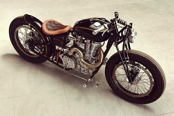 BRAKE THROUGH. A Royal Enfield Thunderbird from J&D Custom Co.