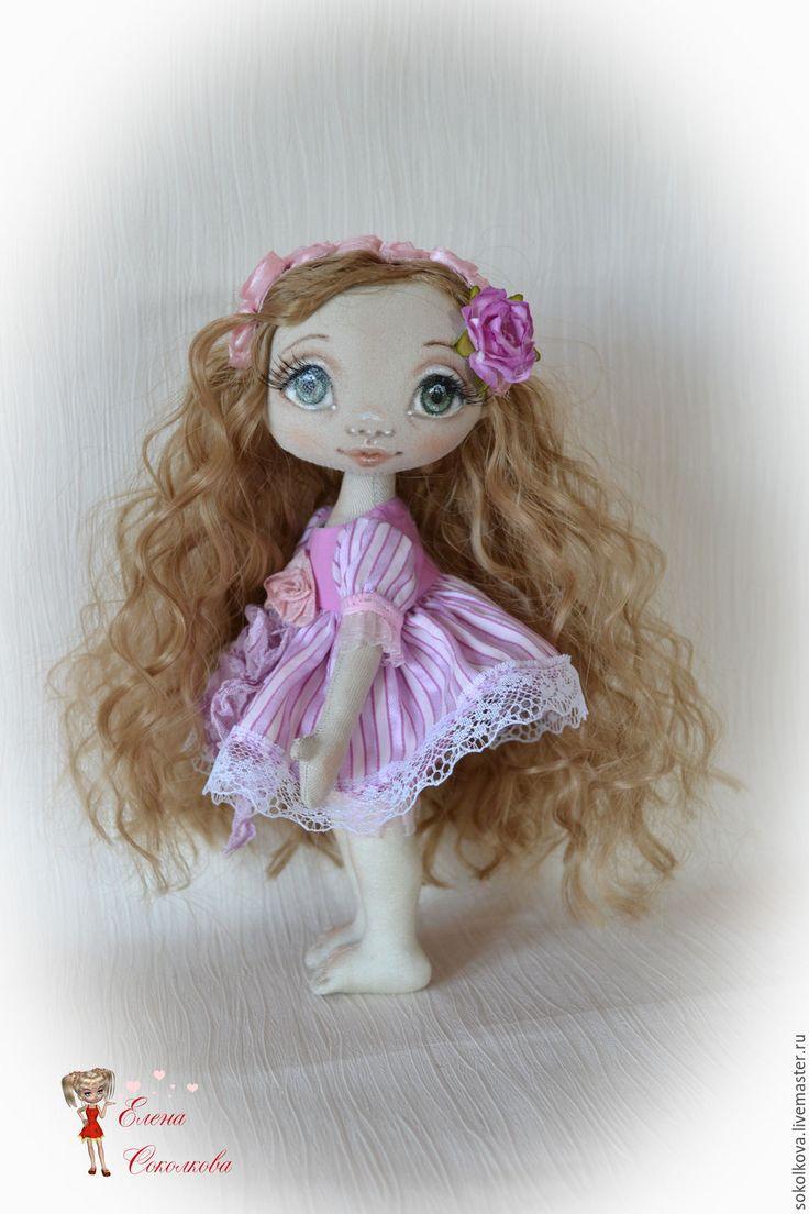 Купить Маленькая Рапунцель. Текстильная куколка. - бледно-сиреневый, кукла, куколка, маленькая кукла