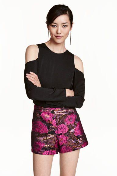Pantaloni scurți țesuți jacard | H&M