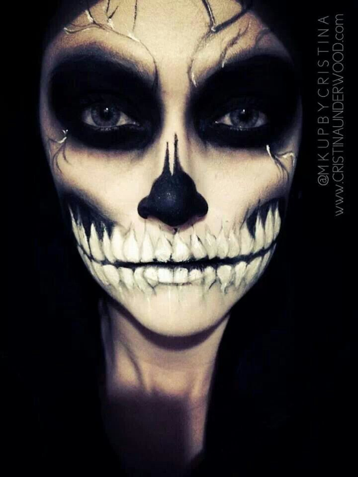 Skull makeup | Halloween Costumes and Inspiration | Pinterest
