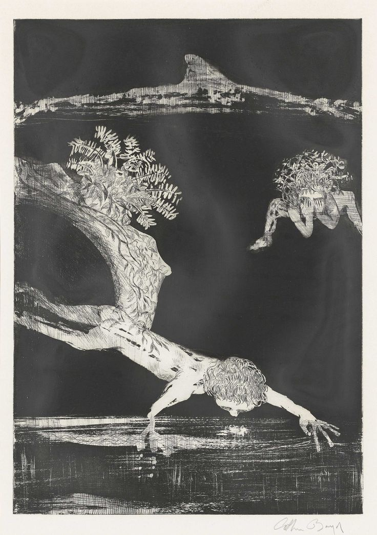 'Narcissus', 1983, etching with aquatint - Arthur Merric Bloomfield Boyd