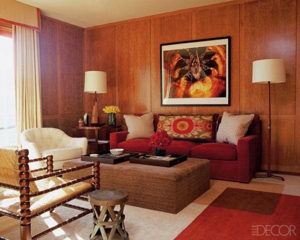 22 best images about wood paneling on pinterest wine cellar raf simons and panelling - Decorated walls living rooms ...