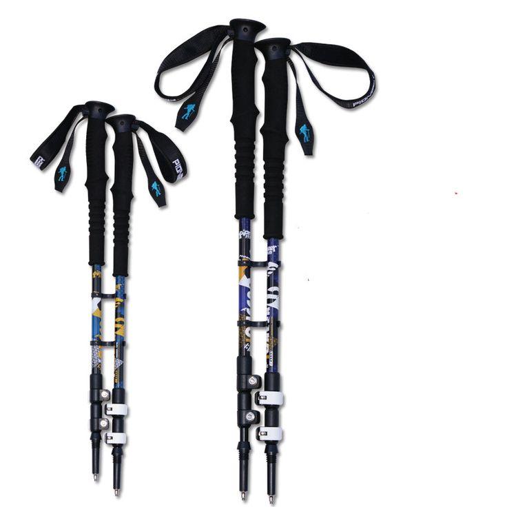 7075 Aluminum Alloy Ultralight Adjustable Telescopic 3 Sections Alpenstock walking Hiking stick Trekking Pole 135cm