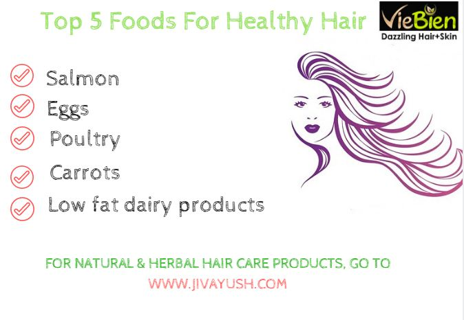 5 Best Foods for Healthy Hair :)
