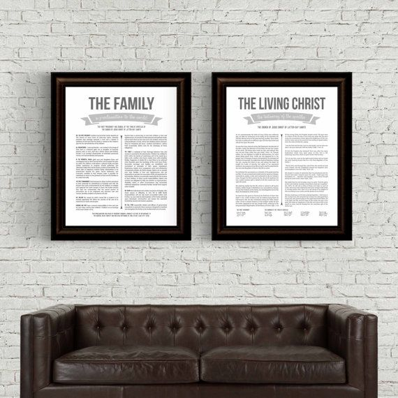 Family Proclamation & Living Christ printable set. Three sizes for each printable are included as instant downloads with this set. Sizes include