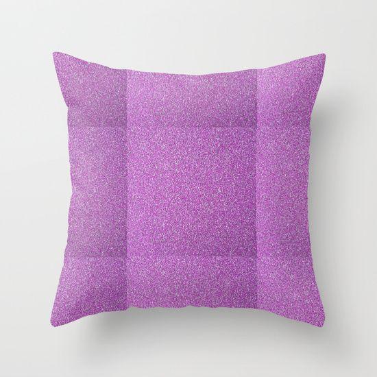 Modern trendy glitter throw pillow
