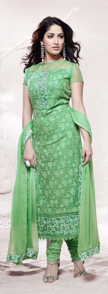 Yami Gautam Designer Green Salwar Suit