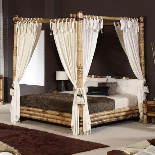 Les 25 meilleures id es de la cat gorie lit bambou sur pinterest lit en bam - Lit baldaquin bambou ...