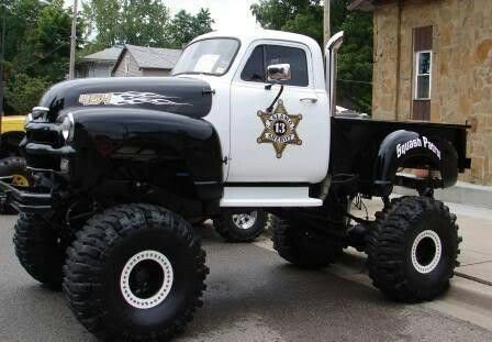 Chevy 4X4 Truck police vehicle lifted Chevrolet truck