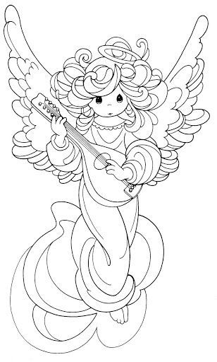 PM Christmas Angel Coloring Pages