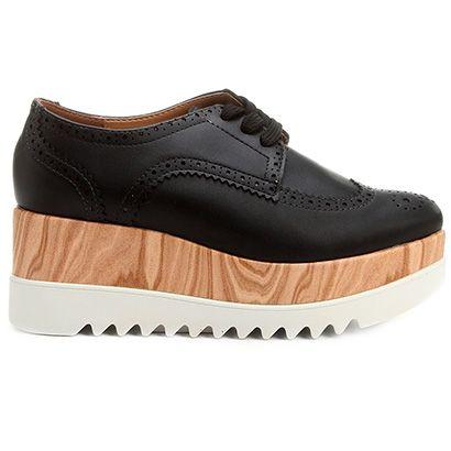 Compre Oxford Vizzano Flatform Brogues Preto na Zattini a nova loja de moda online da Netshoes. Encontre Sapatos, Sandálias, Bolsas e Acessórios. Clique e Confira!