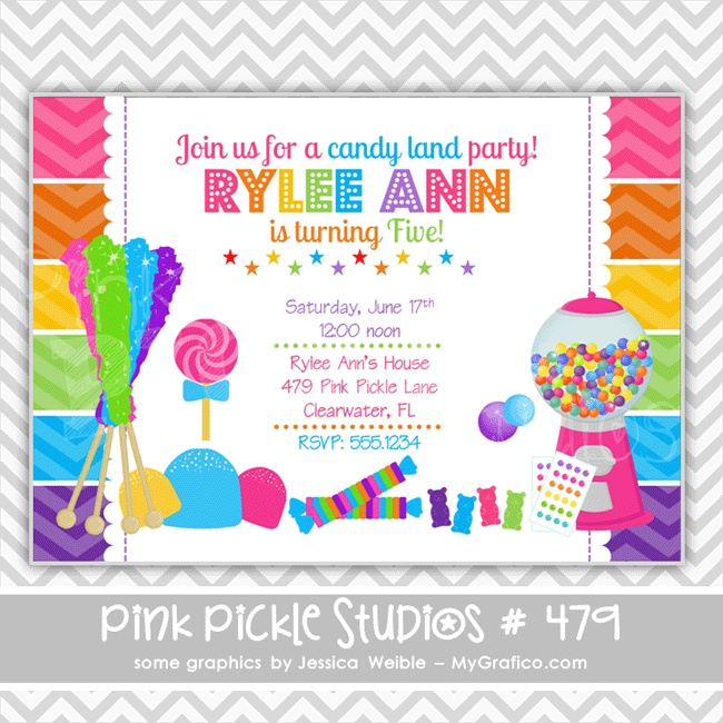 17 best youre invited images on pinterest birthday invitations items similar to rainbow candy birthday party invitations personalized thank you cards birthday invitations party invitations on etsy filmwisefo Choice Image