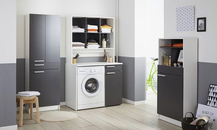 Meubles De Rangement Buanderie Modele Au Choix Wasmachine Kast