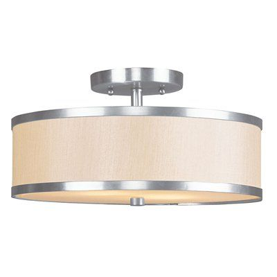 Livex Lighting 634 Park Ridge Round Semi Flush Ceiling Light  $143